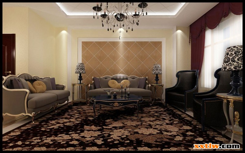 硅藻泥欧式风格全房效果图