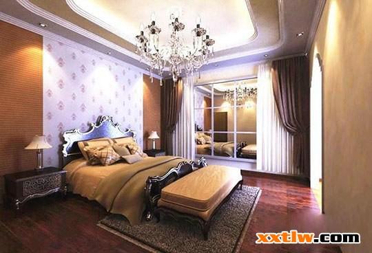 2015硅藻泥背景墙:婚房卧室背景墙实景案例