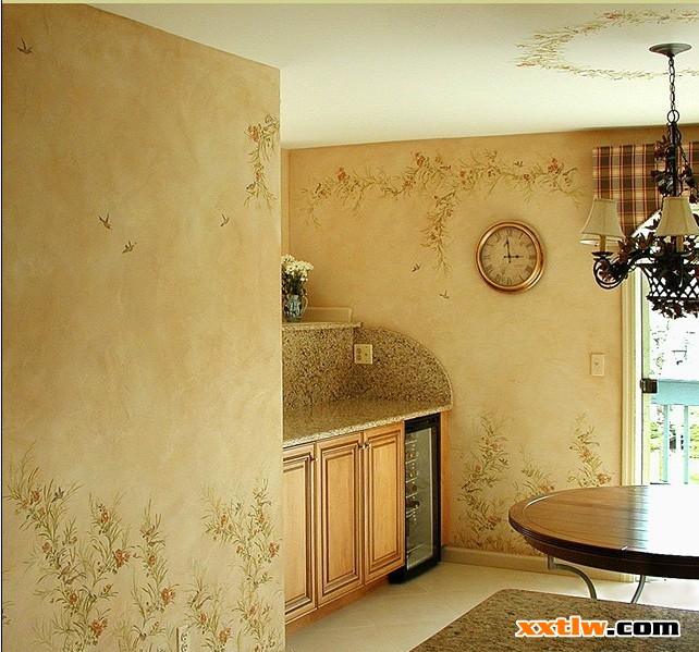 艺术涂料由客厅,逐步发展到卧室