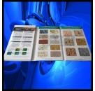 多彩漆色卡、多彩漆样板册、水包水多彩漆色卡,橱柜色卡