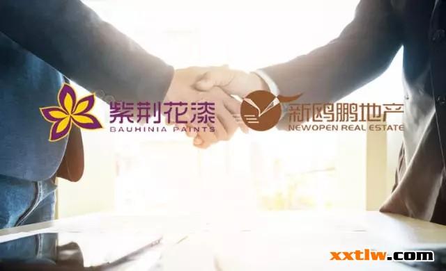 用心出彩,紫荆花工程涂料与山东新鸥鹏地产签署战略集采协议