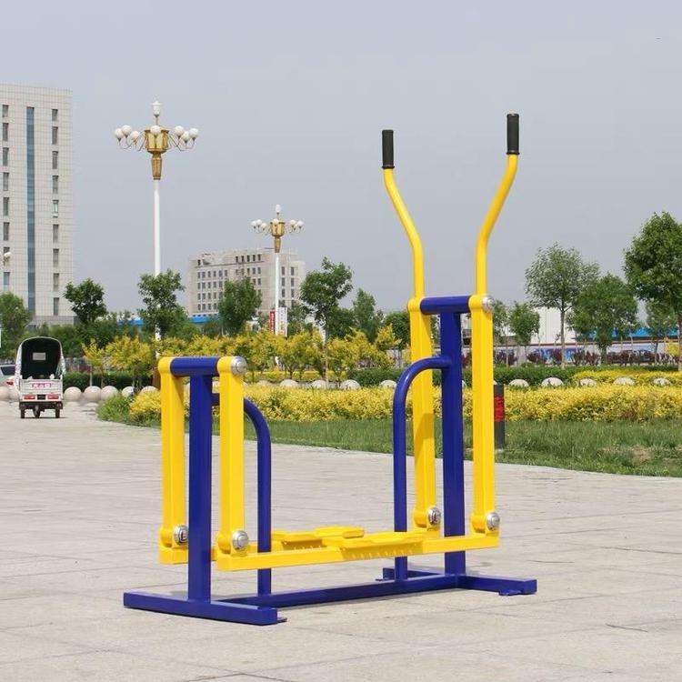 安徽广场户外健身器材 健身路径 单人平步机产品安全可靠