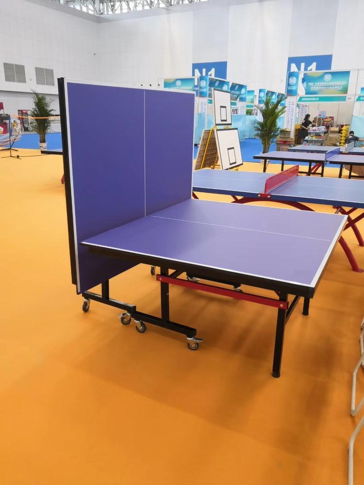 晟茂体育专业生产移动式折叠室内乒乓球台 价格合理经久耐用