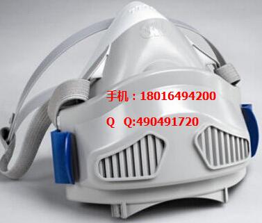3M防毒半面具,半面具面罩,双罐式面罩,6000系列半面具